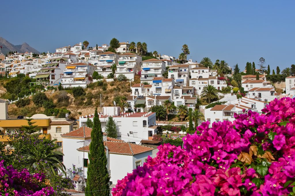 Spanish landscape, Nerja, Spain