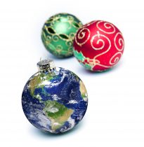Earth Ornaments on White
