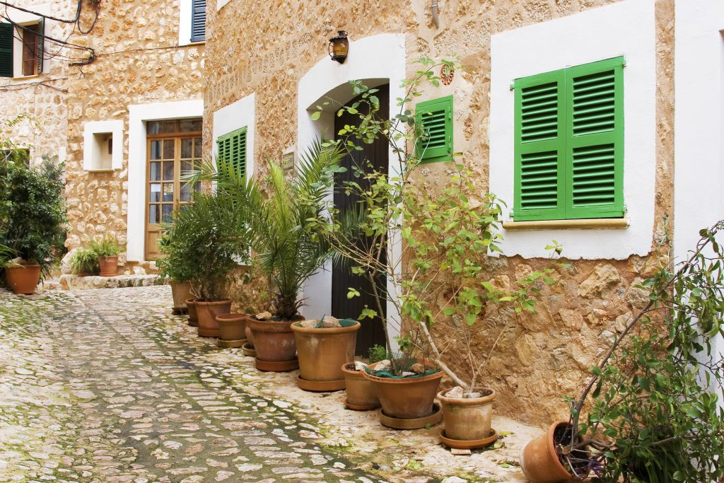 spanish village street