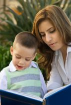 Mom and Son Reading