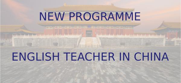 NOVÝ PROGRAM – UČITEĽ/KA ANGLIČTINY V ČÍNE