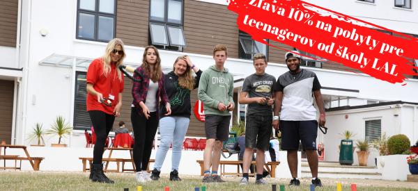 Zľava 10% na pobyty pre teenagerov od školy LAL